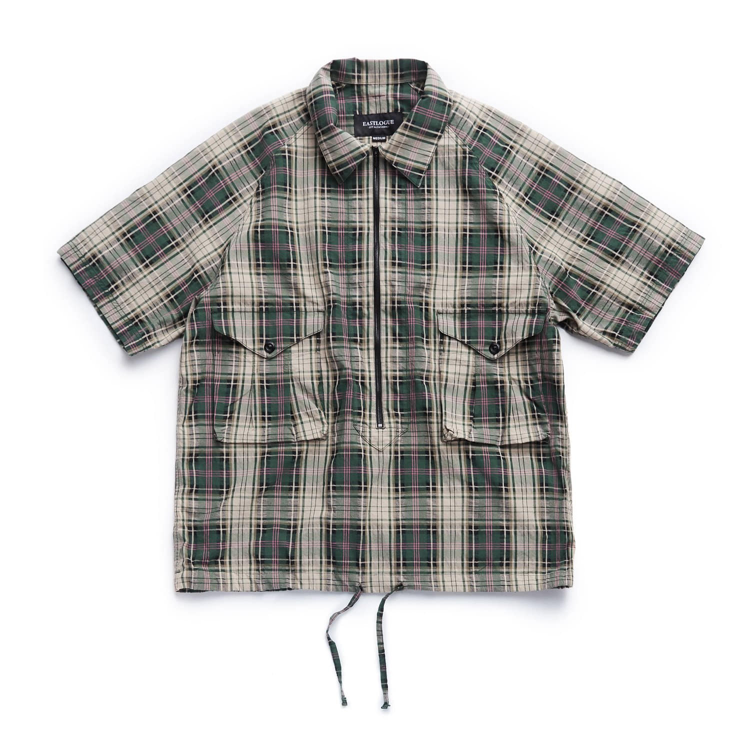EASTLOGUE Scout Pullover Half Shirts (Green Multi Check)