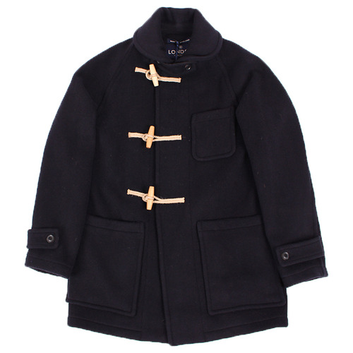 "London Tradition Exclusive Sailor Collar Long Duffle Coat LT/01 ""Navy-flag"""