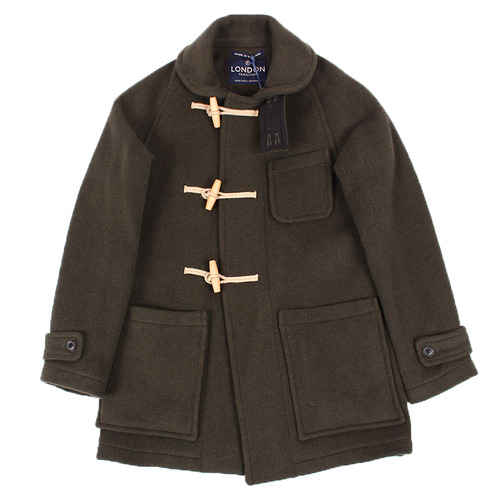 "London Tradition Exclusive Sailor Collar Long Duffle Coat LT/01 ""Loden"""