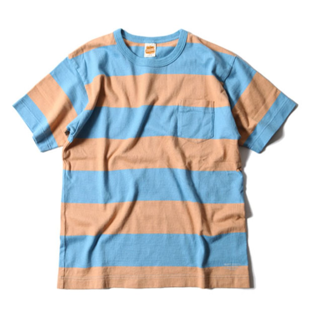 Wide Border S/S Tee (Troquoise)