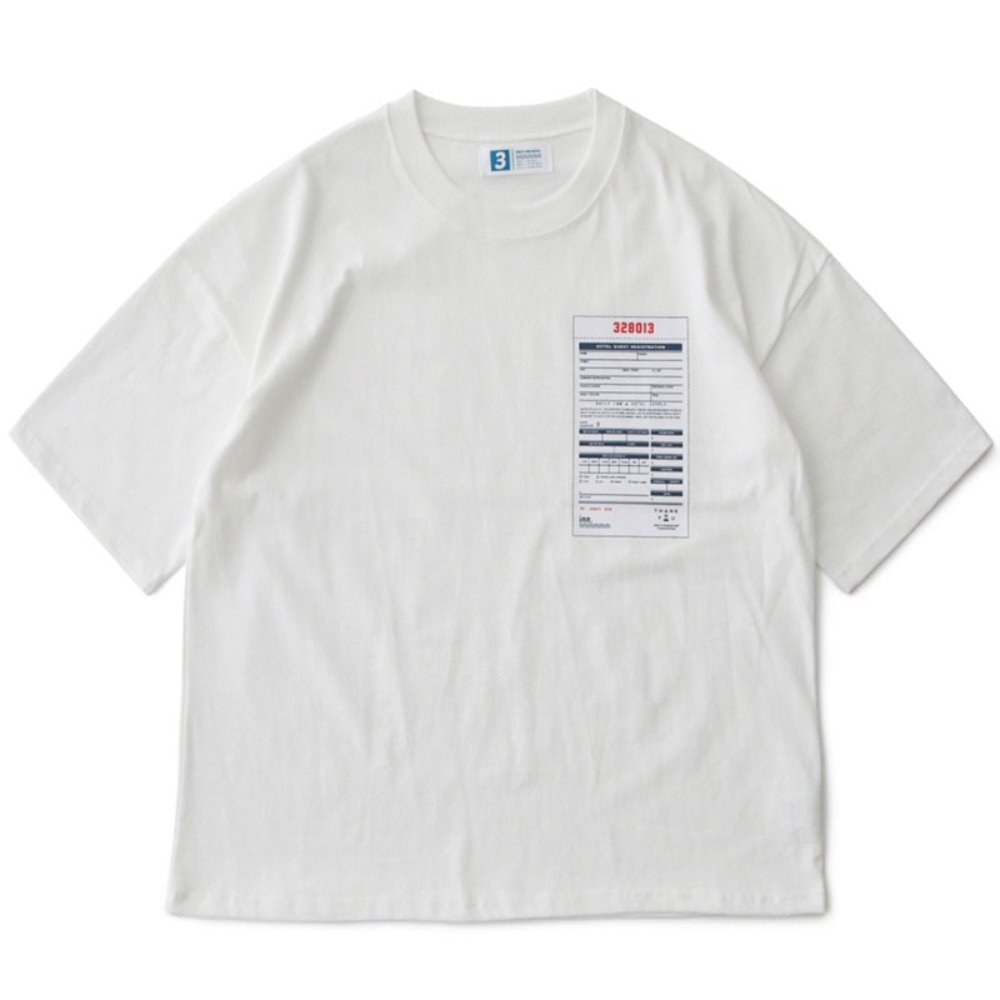 Hotel Guest Resigrration Oversiezed Tee (White)