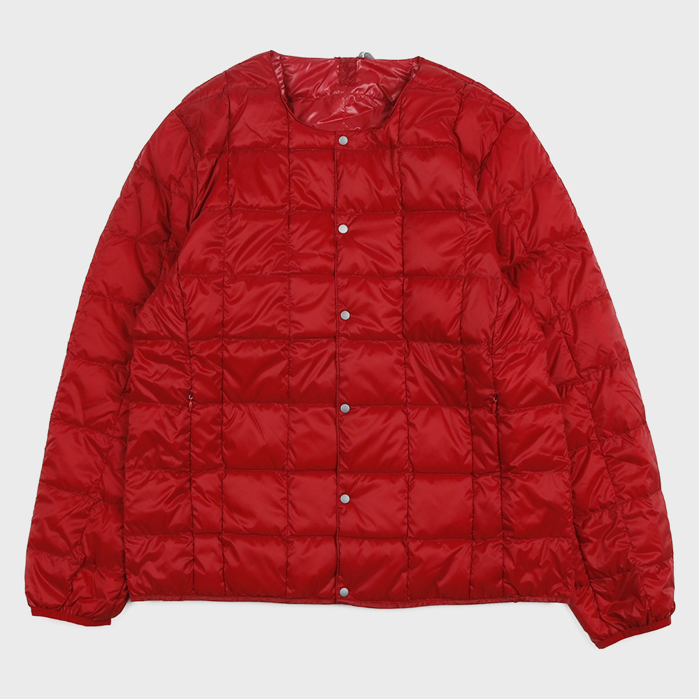 Crew Neck Button Down Jacket TAION-104 (Red - Unisex)