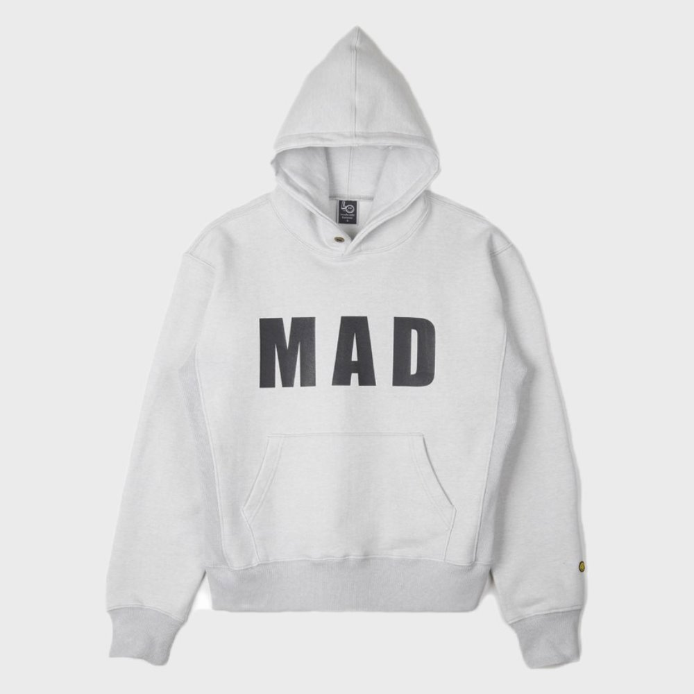 LOCALS ONLY Mad Pull Over Hoodie (Melange Grey)