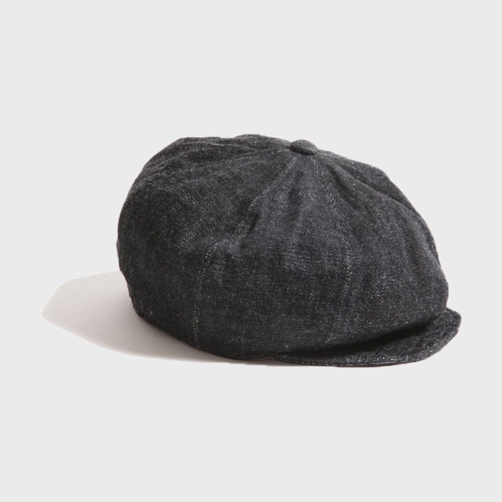 Dirt Denim Newsboy Cap (Black)