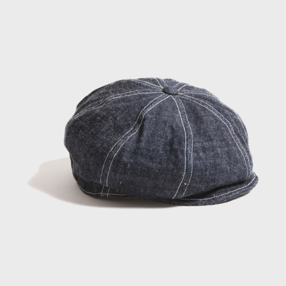 Dirt Denim Newsboy Cap (Indigo)