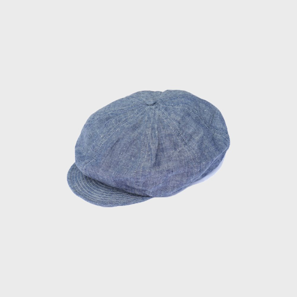 Summer Newsboy Cap (Indigo)