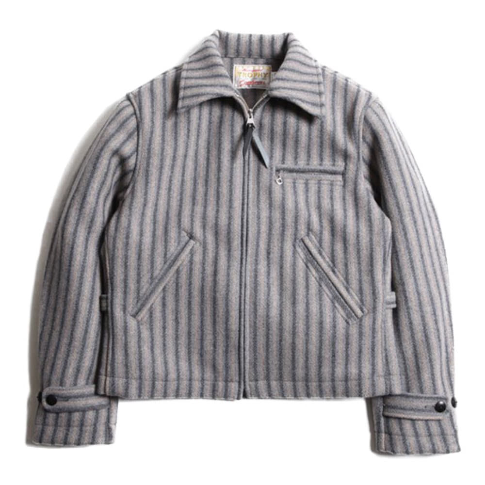 Wool Sports Jacket - Grey Stripe