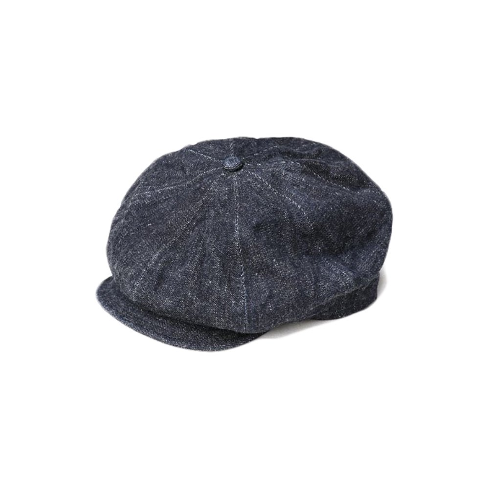 Dirt Denim Newsboy Cap - Indigo x Navy