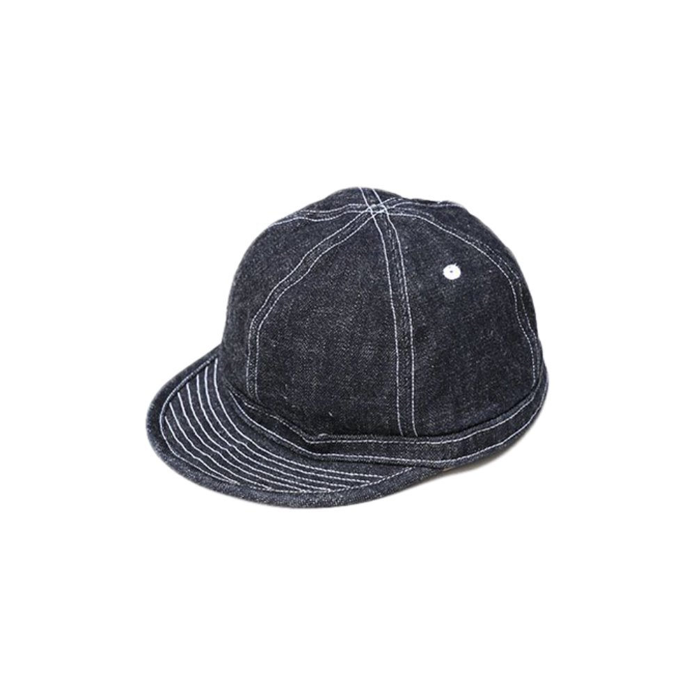 Dirt Denim Prisoner Cap - Indigo x White